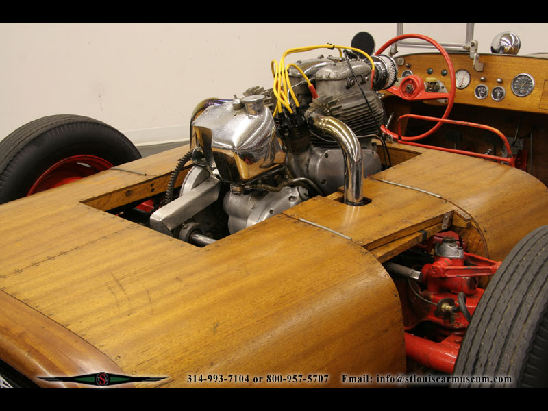 This 'Woody' is powered by a 1952 Ariel Square 4 motorcycle engine