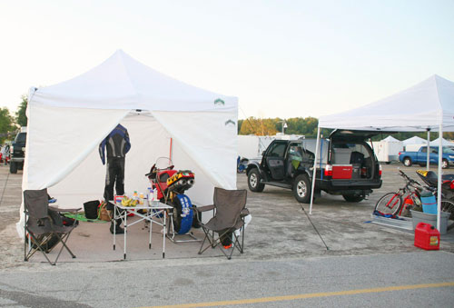 motorcycle road racing tent