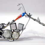 Sculpted Motorcycles Out of Watch Parts