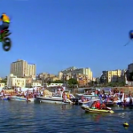 Jumping Motorcycles Into The Sea