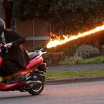 Flame Throwing Scooter
