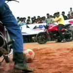 Playing Soccer on Motorcycles