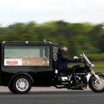 Man of God Sets Guinness World Speed Record with Triumph Rocket Motorcycle Hearse [Video]