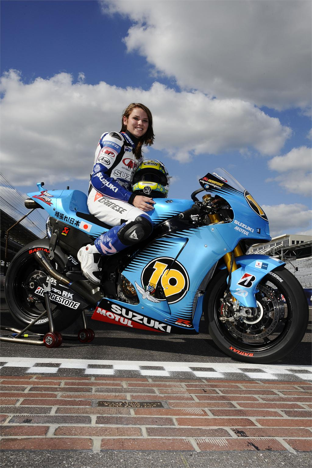 190 mph: Elena Myers Riding the Suzuki GSV-R at Indianapolis Motor Speedway - Motorcycle.com News