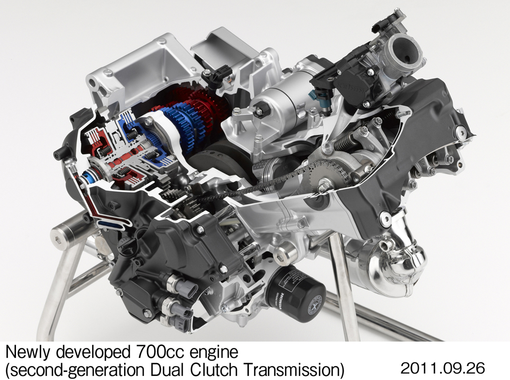 2012 honda integra announced all new 670cc engine with for New motor and transmission