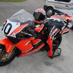 CBR900RR helmet and leathers