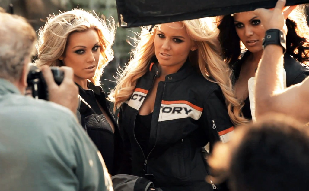 Playboy Playmates Vie for Cover of 2013 Victory Motorcycles Brochure ...