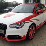 Audi A1 Featuring Ducati 1199 Panigale Tricolore Colors