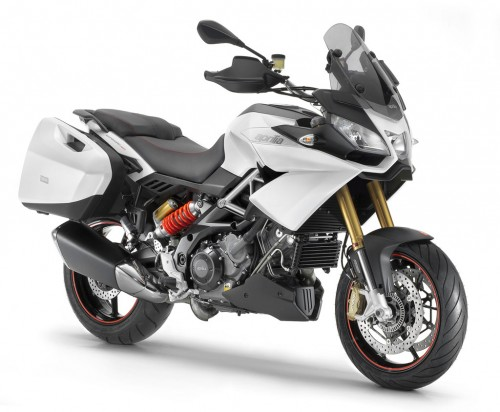 2013-Aprilia-Caponord-1200-White-Front-Right
