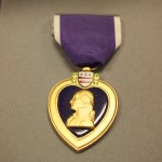 Van Sandt's Purple Heart, awarded to his family after his death.