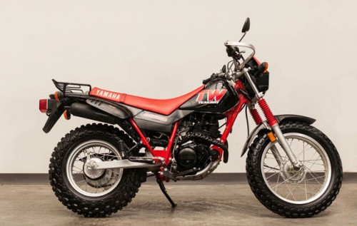 Bruce willis 39 1988 yamaha tw200 trailway up for auction for Kelley blue book motorcycles yamaha