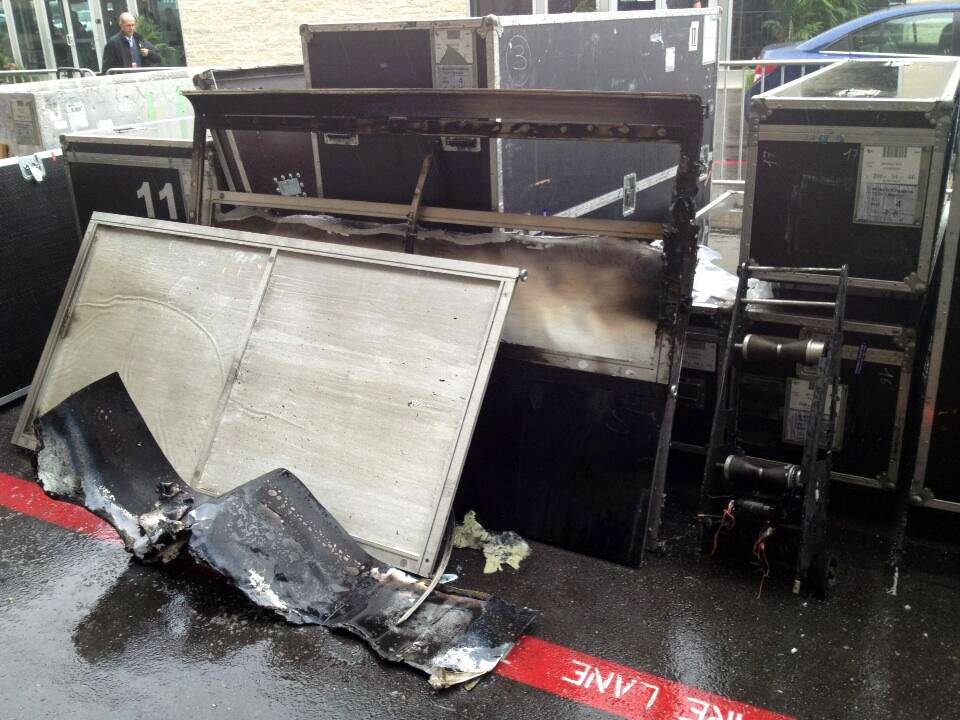 Monster Yamaha Tech3 Garage Catches Fire At Circuit Of The