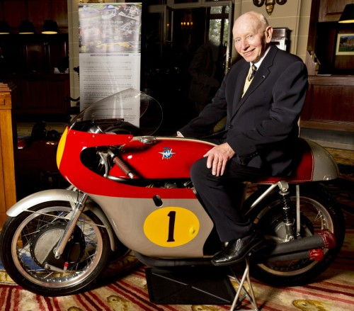 John Surtees on the championship-winning 1960 MV Agusta racer.