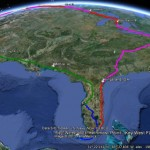 USA Four Corners Tour Tracked On Google Earth