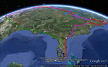 USA Four Corners Tour Tracked On Google Earth -