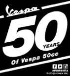 Vespa 50cc Scooter Celebrates 50 Years -