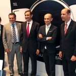 Ducati CEO Claudio Domenicali with sales director Roberto Righi and Volkswagen Argentina executives.