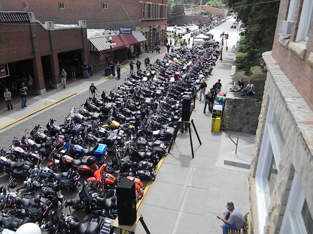 This is just a small sample of the number of participants in Monday's annual Legends Ride from Deadwood to Sturgis.
