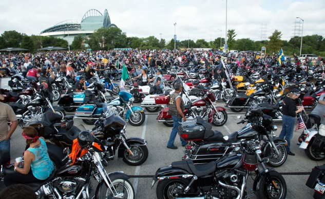 102813-harley-davidson-110th-anniversary-parking-lot