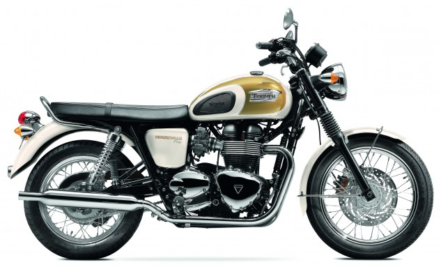 MY14_Bonneville T100_Fusion White & Aurum Gold_RHS