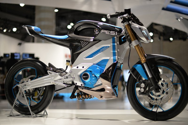 Yamaha pes1 and ped1 heading for production motorcycle for Electric yamaha motorcycle