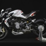 MV Agusta Brutale 800 Dragster white left distant profile