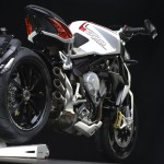 MV Agusta Brutale 800 Dragster white right rear profile low