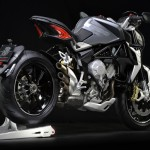 MV Agusta Brutale 800 Dragster grey right rear profile