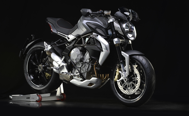 MV Agusta Brutale 800 Dragster grey right front 3/4