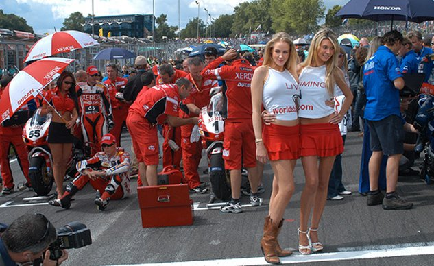 World Superbike umbrella girls