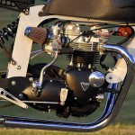Bucephalus Triumph Custom Motorcycle engine