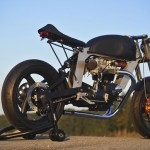Bucephalus Triumph Custom Motorcycle right rear beauty