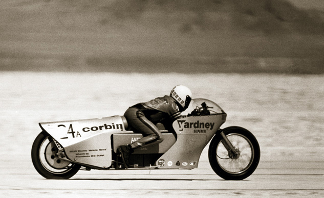 Corbin electric motorcycle land speed record