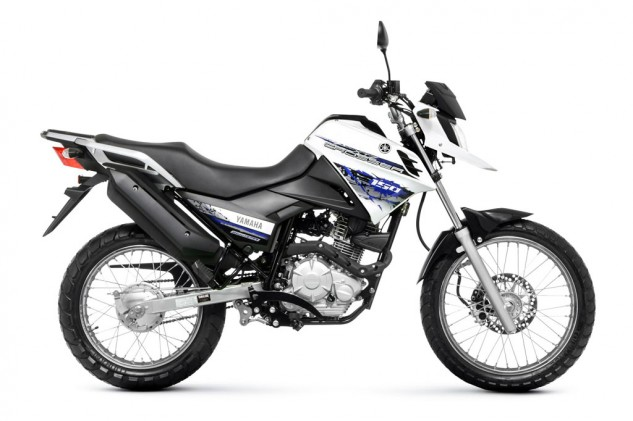 Yamaha Crosser 150 BlueFlex white forward right