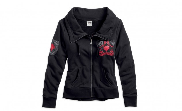 H-D Womens Hearts and Wrenches Activewear Jacket