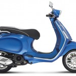 Vespa Sprint 125 blue studio right profile