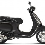 Vespa Sprint 125 black studio right profile