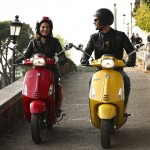 Vespa Sprint 125 tandem outdoor riding shot