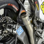 Ducati GP14 exhaust and rear brake