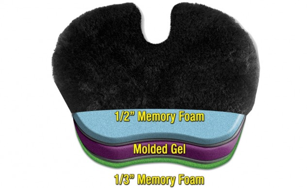 Gel Pad Seat Cushion with construction layers
