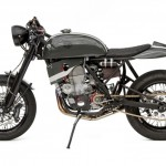 Honda CRF450X cafe racer side profile
