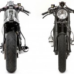 Honda CRF450X cafe racer front and rear shots
