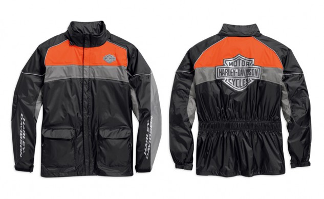 Harley davidson motorclothes turns to 3m for conspicuous for Motor cycle rain gear