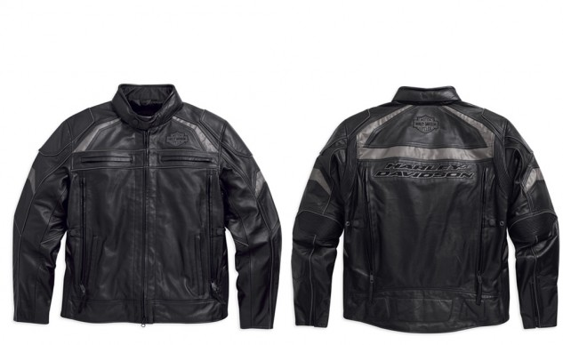 Medallion Reflective Leather Jacket
