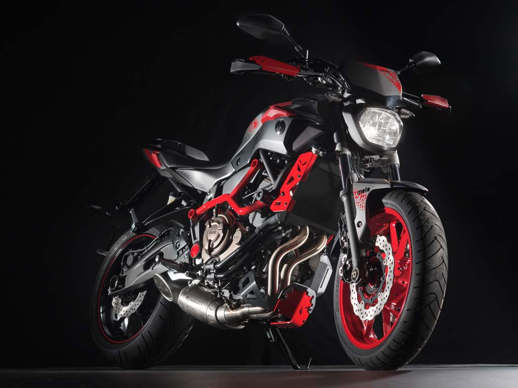 2015 yamaha mt 07 moto cage stunt bike revealed. Black Bedroom Furniture Sets. Home Design Ideas