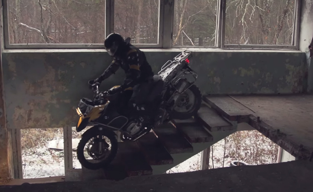 BMW R1200GS Tears Up A Children's Camp + Video