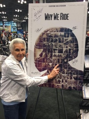 Gloria Struck signing WWR poster
