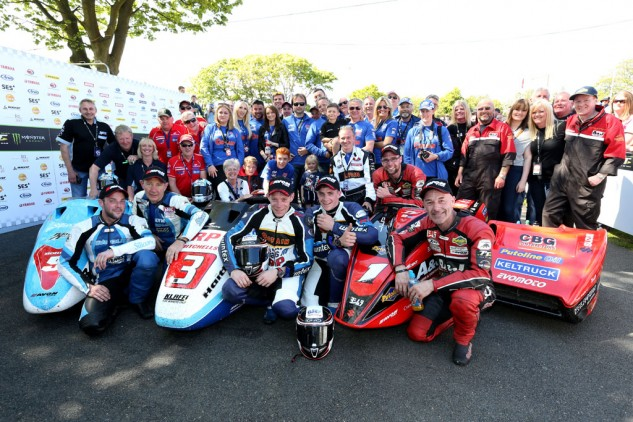 061115-isle-of-man-tt-sidecar-2-podium-finishers