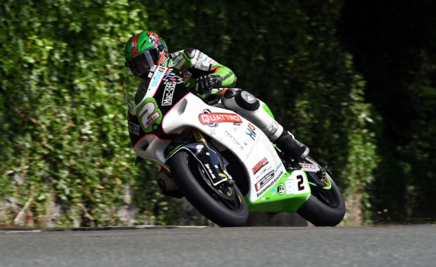 James Hillier broke his own Lightweight TT lap record but had to settle for second. Photo by www.davekneale.com.
