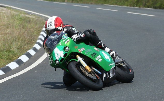 Michael Rutter broke up the parade of Ninja 650s, finishing on the podium riding a Paton S1.